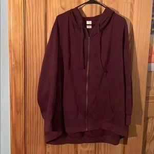 Terra&Sky maroon/purple hooded sweatshirt